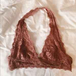 Rust Colored Lace Bralette